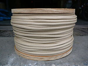 "Double Braid Polyester Dacron Sheet Halyard Sail Line Classic Look Tan 3/8"" 100'"