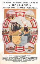 HOLLAND AMSTERDAM MARKEN VOLENDAM NETHERLANDS TRAIN TROLLEY POSTCARD (c.1920s)