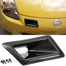 Carbon Fiber Twill Air Vent Right Side Duct Cover For 03-07 Nissan 350Z Z33 CT