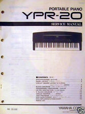 Yamaha YPR-20 Portable Digital Piano Original Service Manual, Schematics, More