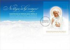 2014 Canonizzazione del Papa Giovanni Paolo II - Polonia - foglietto I fdc