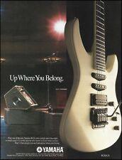 Yamaha RGX series 612S electric guitar 1987 advertisement 8 x 11 ad print