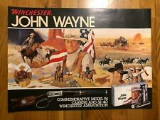 Rare John Wayne Winchester Commemorative Model 94 Store Display Poster 21x29