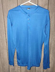 Patagonia Capilene Navy Fleece Shirt Mens LARGE Long sleeve Made in USA Vintage