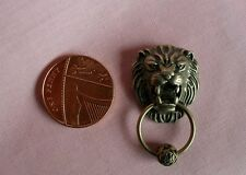 DOLLS HOUSE LION HEAD  DOOR KNOCKER WITH DECORATIVE KNOCKER