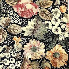 Buckingham Necktie Floral 100% Cotton USA Black Pink Green NWOT
