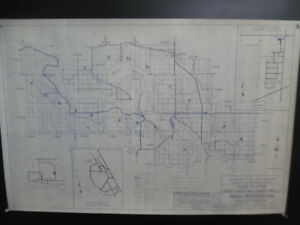 1970 Crow Creek Lower Brule Indian Reservation Road System Map South Dakota BIA