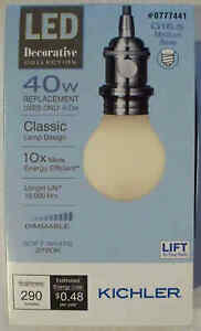 Kichler LED 40W/4W G16.5 Medium Base-Soft White 2700K-Dimmable-513913-Save 2+