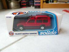 Talbot Matra Rancho 1062 Solido 1/43 Miniature avec boite