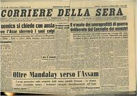 CORRIERE DELLA SERA 3 MAGGIO 1942  GIORNALI DI GUERRA