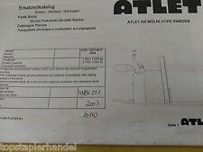 Ersatzteilbuch Atlet Elektro Deichselstapler Hubwagen CSD125/160 P