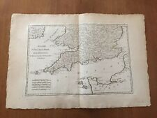 Original antique map ENGLAND, CORNWALL, IRELAND, WALES, Rigobert Bonne, c.1790