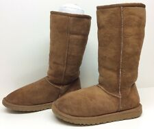 #3 WOMENS UGG AUSTRALIA WINTER BROWN BOOTS SIZE 6