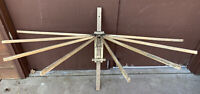 Antique AMERICAN Wood Clothes Dryer Wall Mount 8 Arm Drying Rack
