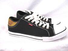 Levi's Mens Black Canvas Sneaker Sz 13 Lace Up Casual Shoes SS3