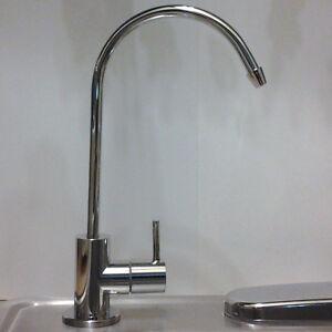 """Chrome Neva RO & Water Filter Ceramic Disc Faucet 1/4"""" O.D.Hose. 2 Yr Wty"""
