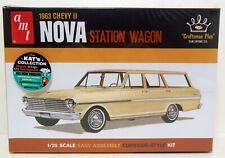 New Amt Craftsman 1963 Chevy Ii Nova Station Wagon Kit Sealed