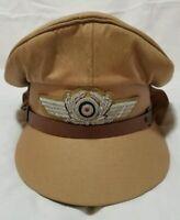 WW2 German Airforce Officer Pilot khaki Hat Cap Reproduction High Quality