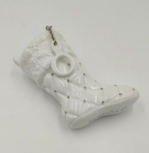 Pandora 2012 Ltd Edition Ceramic Christmas Boot Stocking Ornament Charm