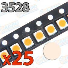 LED SMD 3528 20mA - Blanco Calido - Lote 25 unidades - Arduino Electronica DIY