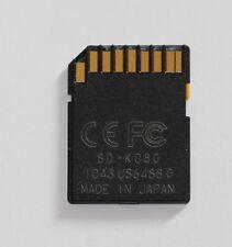 8 GB / SD, SD-K08G original Toshiba Speicherkarte, memory card