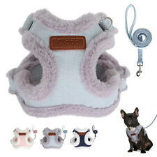 Cute Pet Dog Harness and Leash 5ft Warm Fleece Winter Vest Jacket Small Large