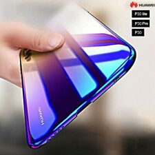 "COVER per Huawei P30 / Lite / Pro RIGIDA ULTRA SOTTILE SLIM ORIGINALE ""BLUE RAY"""