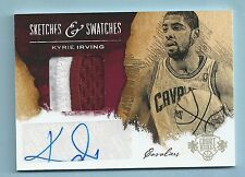 KYRIE IRVING 2013/14 COURT KINGS SKETCHES & SWATCHES PATCH AUTOGRAPH AUTO /25