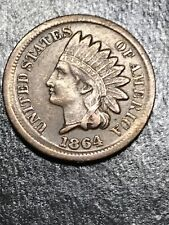 1864 INDIAN HEAD CENT BROADSTRIKE