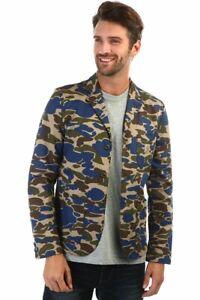 CARHARTT WIP X' SID BLAZER Camo Military Morass Sportcoat Jacket  Size S