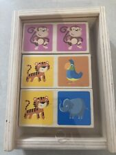 Childrens Educational Multicolour Animal Wooden Dominoes