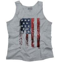 USA United States of America Flag Patriotic Adult Tank Top T-Shirt Tees Tshirt
