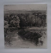 Francis SEYMOUR HADEN 1863 Original ETCHING Dundrum River Fine work
