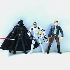 Lot 3x STAR WARS Clone Pilot TROOPER,Darth Vader& Han Solo action Figures QA112