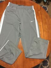 Nike Basketball mens athletic pants Large L Gray White Fitness Training