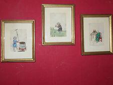 Trois Aquarelles Chinoises Sur Papier De Riz, époque 19ème.
