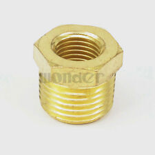 """1/2"""" NPT Male x 1/4"""" NPT Female Reducing Bushing Brass Pipe Fitting Connector"""