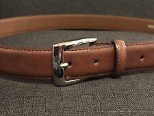 Braided Sz 44 #3 New Van Heusen Reversible Brown//Black Leather Mens Dress Belt