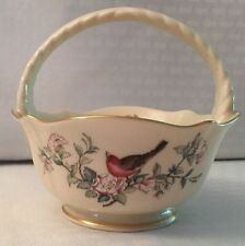 "Lenox ""Serenade� Basket Trimmed In Gold"