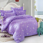 Purple Star Moon Double Queen King Size Bed Set Pillowcases Quilt Duvet Cover