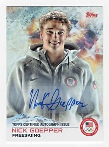 2014 Topps USA Olympic Team Authentic Autograph #39 Nick Goepper Freesking