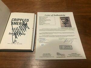 PRESIDENT DONALD TRUMP SIGNED CRIPPLED AMERICA BOOK AUTOGRAPH MAGA JSA COA