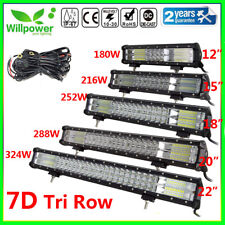 TRI ROW 12/15/18/20/22inch LED Work Light Bar for Off road Car Truck SUV JEEP