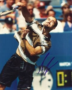 """Andre Agassi Autographed 8"""" X 10"""" Photo"""