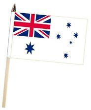 Australien Königliche Marine Lief Weiß Flagge Groß Hand Winkender Höfflichkeit