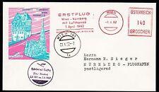 """Solo volo FFC LH """"Vienna-Norimberga"""" 1.04.1962!!! HS 502a-RARO -"""
