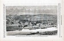 Seraing établissements de John Cockerill 1865 gravure sur bois orig. Meuse Maas