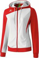 Erima Club 1900 Trainingsjacke, Damen, Gr. 46, Weiß/Rot, Neu & OVP, UVP 44,95