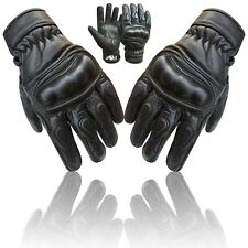 Prime Motorbike Shell Knuckle Protection Motorcycle Cow Nappa Leather Glove 9003