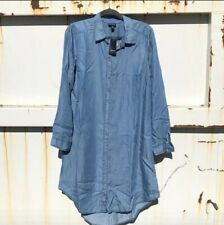 TORRID DENIM CHAMBRAY SHIRT DRESS BUTTON UP SZ 00 10-12 NWT SOLD OUT!